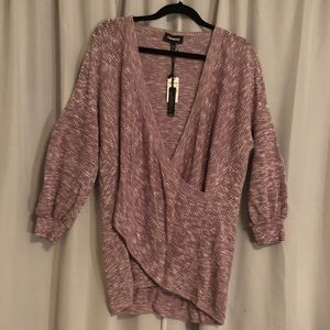 Express sz XL sweater with front wrap detail. New